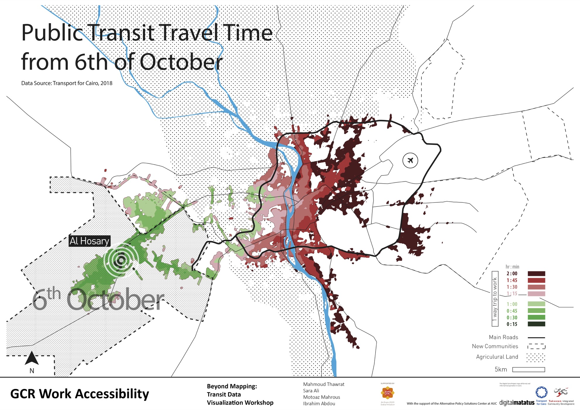 6th of October transit travel time