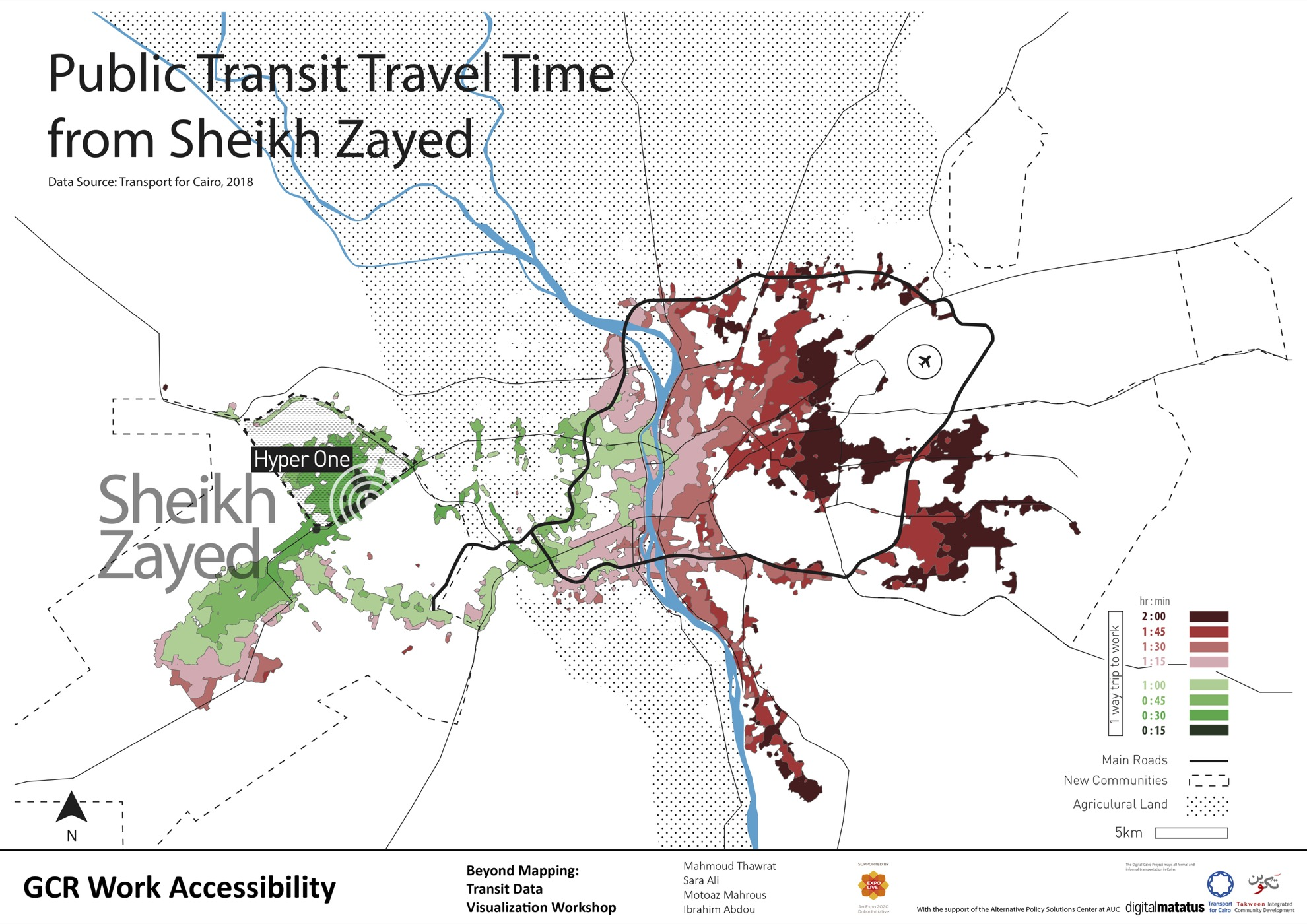 sheikh zayed transit travel time cairo